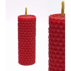 Волшебная свеча Красная ручная работа