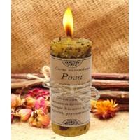 Волшебная свеча Роза ручная работа