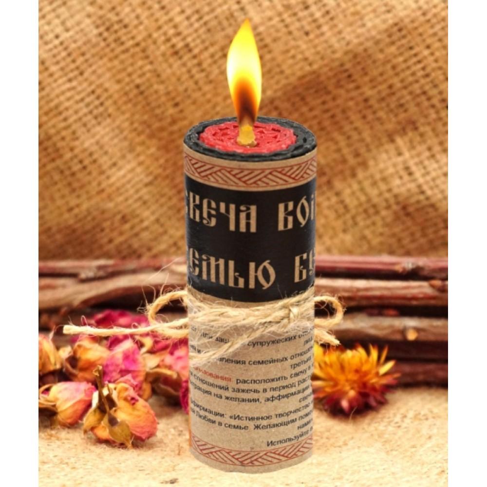 """Волшебная свеча """"Семью Берегущая"""" ручная работа"""