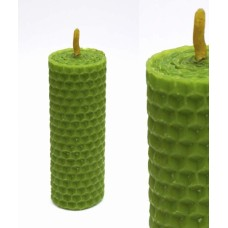 Волшебная свеча Зелёная ручная работа