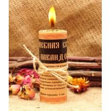 Волшебная свеча с лавандой ручная работа