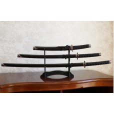 Набор из трёх самурайских мечей на подставке №4