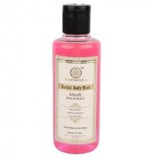 """Гель для душа """"Роза и мёд"""" Rose & Honey herbal body wash Khadi (Кхади) 210 мл"""
